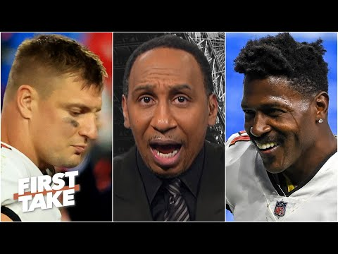Antonio Brown, not Rob Gronkowski, should be the Bucs' priority to re-sign - Stephen A. | First Take