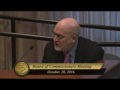 Oct. 20, 2016 Board of County Commissioners' Business Meeting