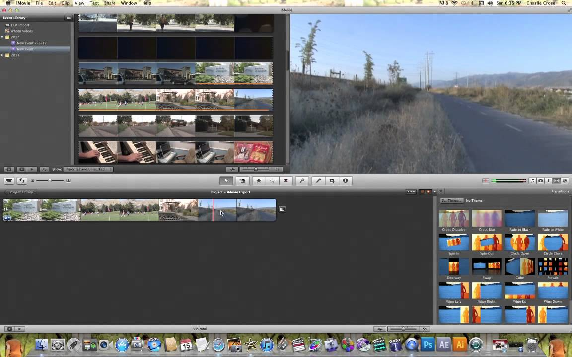 imovie fade out audio