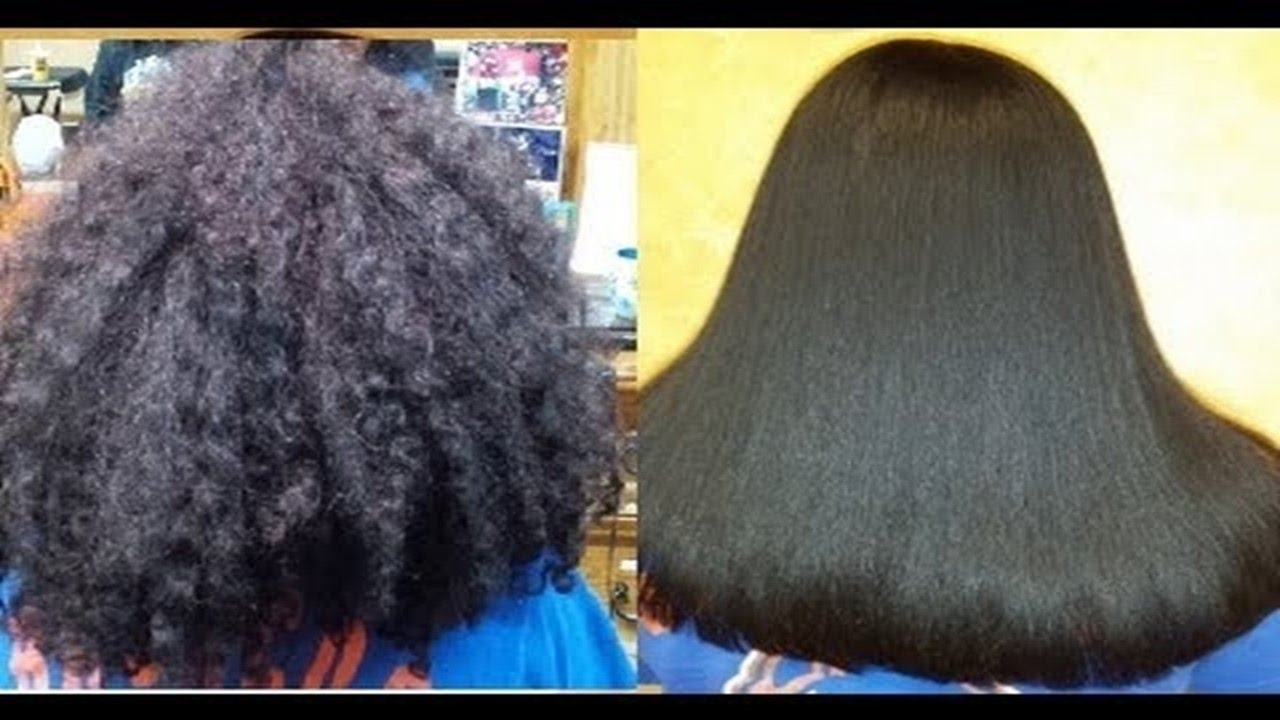 Permanent Hair Straightening At Home Using Natural