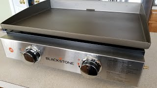 """Unboxing Blackstone Portable Outdoor 22"""" Table Top Gas Griddle w/Adapter Hose hsn Amazon"""