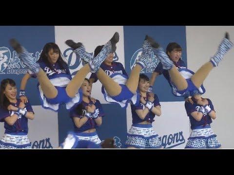 脅威の三連Vジャンプ Bad  チアドラ2018フルメンバー ドリームスターズパーティー D-STAGELIVE (舞台袖でソフトバンクハニーズもちょくちょくダンスに参加)