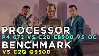 GTA 5 2015 Benchmark - Pentium 4 672 vs Core 2 Duo E8500 (stock-overclocked) vs Core 2 Quad Q9300