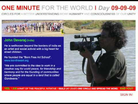 ONE MINUTE FOR THE WORLD - DAY 09-09-09  Statement JOHN DEVARAJ