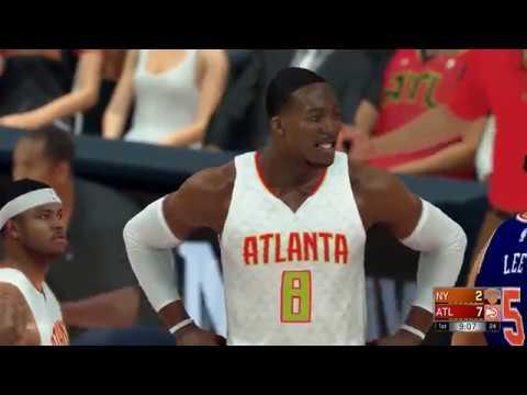NBA 2K17 (PS4)- New York Knicks vs Atlanta Hawks - Full Game - Simulation Nation