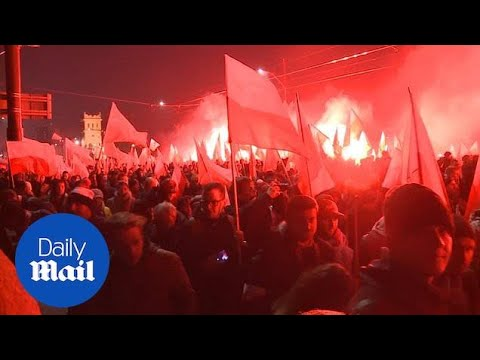 More than 200,000 marched to celebrate Poland's independence