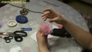 Цветы из ткани. Мастер класс Роза из органзы (handmade)(Бесплатно - 15 видео мастер-классов по созданию цветов из ткани. Посмотрите на сайте: http://master.masterclass2.ru/ Мастер..., 2013-05-10T20:14:48.000Z)
