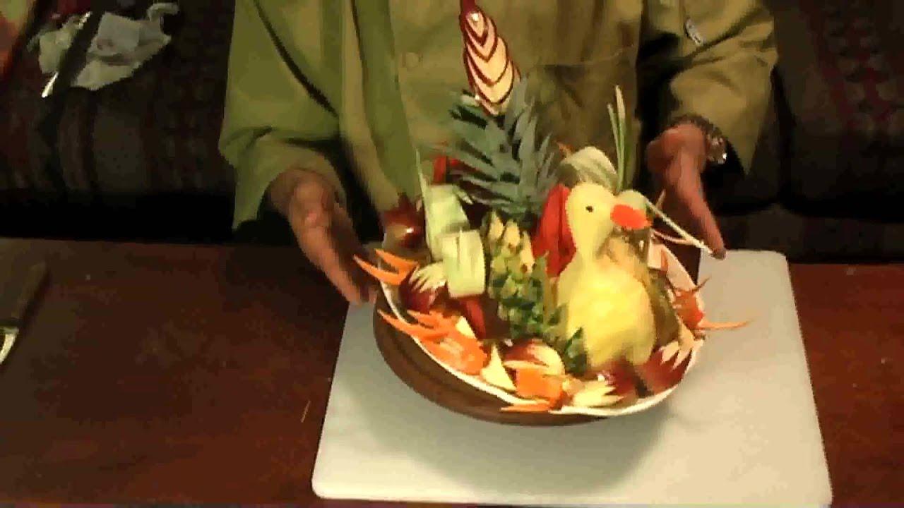 Pineapple bird fruit carving youtube