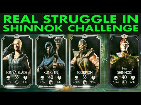 MKX Mobile. Shinnok Challenge. Last towers and BOSS Battle review.