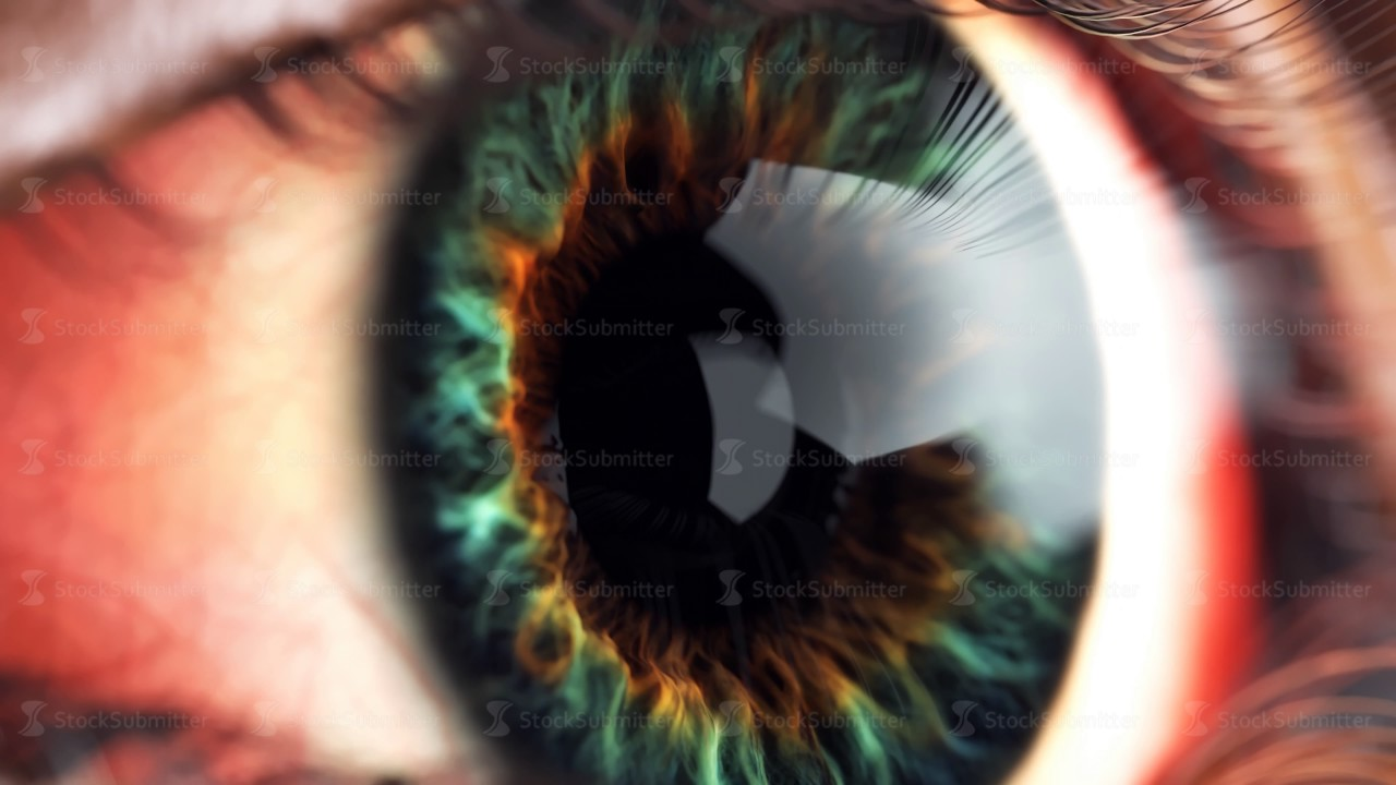 eye iris macro moving inside  4k animation