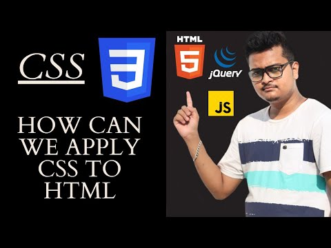 Different Ways To Apply CSS To HTML In 2020 Webdevelopment Tutorial 2