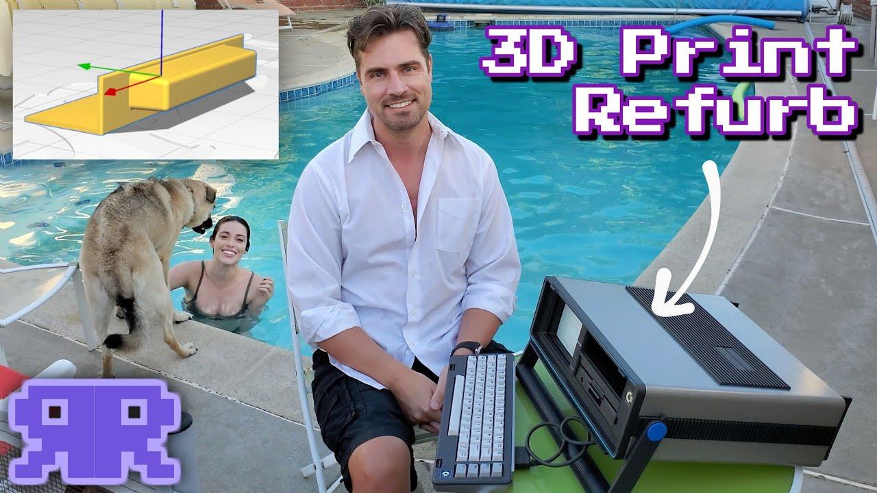 "3D print + dishwasher refurb: The 1st color ""laptop""! Commodore SX-64"
