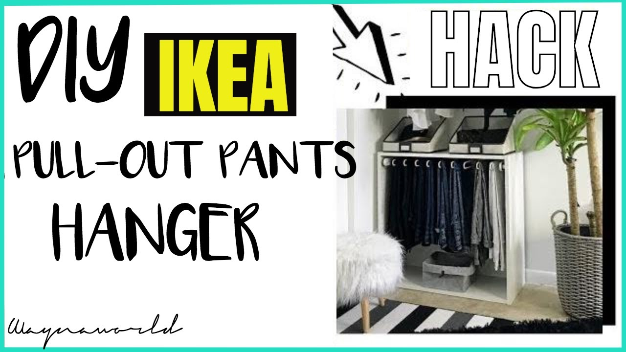 Ikea Hack Diy Ikea Komplement Pull Out Hanger Pax Wardrobe