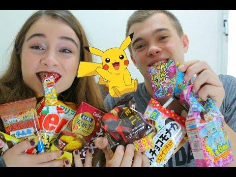 טעימת חטיפים יפנים עם חבר שלי ❤️