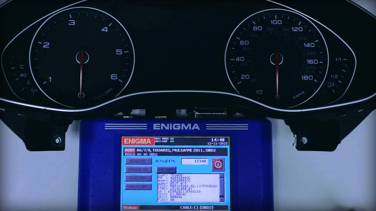 ENIGMATOOL AUDI A6 A7 A8 INSTRUMENT CLUSTER PROGRAMMING