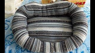 ЛЕЖАНКА для кошки из свитера/ 24.04.19