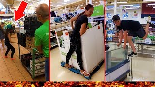 FLOOR IS LAVA IN A GROCERY STORE!! - Crazy Family Moments