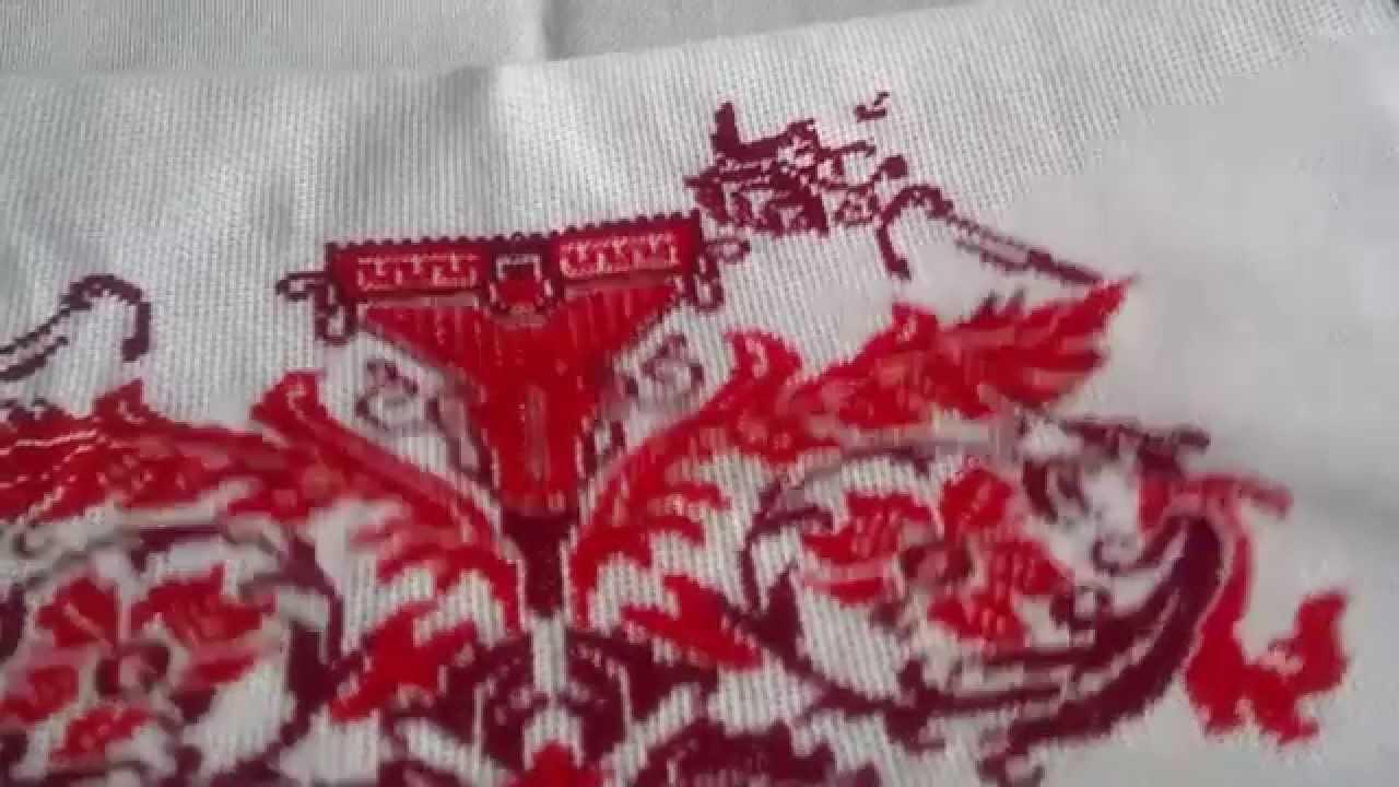 Как начать вышивку рушника