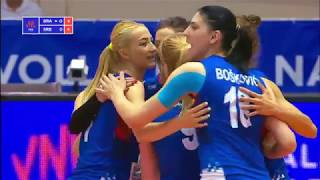 Women's VNL 2018: Brazil v Serbia - Full Match (Week 1, Match. 23)