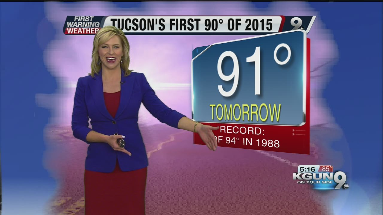 Chief meteorologist erin christiansen s kgun 9 forecast thursday