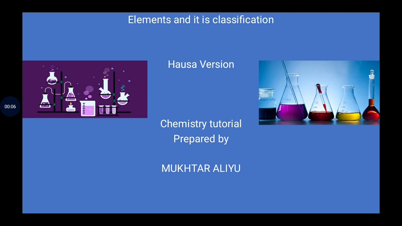 Download Elements and it's classifications. Hausa version