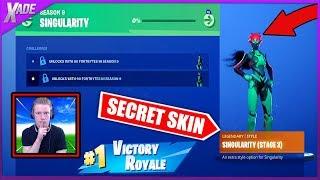 The SECRET weekly skin has been shown!!! *SINGULARITY*(Fortnite Battle Royale)