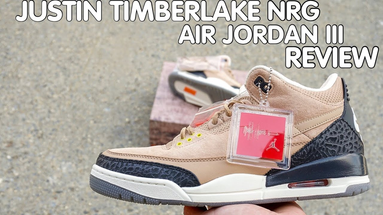 f8d9f6eb577 JUSTIN TIMBERLAKE X TINKER HATFIELD AIR JORDAN 3 NRG REVIEW - YouTube