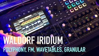 Waldorf Iridium - Polyphony, FM, Wavetables, Granular