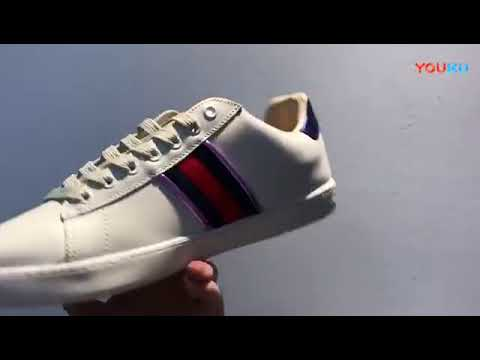 b4538e41025 Gucci Metallic Flame スニーカー - YouTube