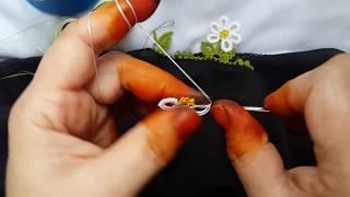 378-Tasarım Muhteşem Ağır gösterişli bir model daha iğneden çevirdiğim papatya çiçek tığ oyası