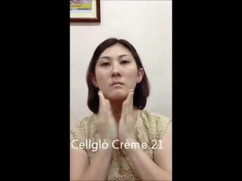 Cellglò Crème 21  Application on Face Area