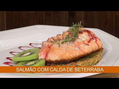 SALMÃO COM CALDA DE BETERRABA