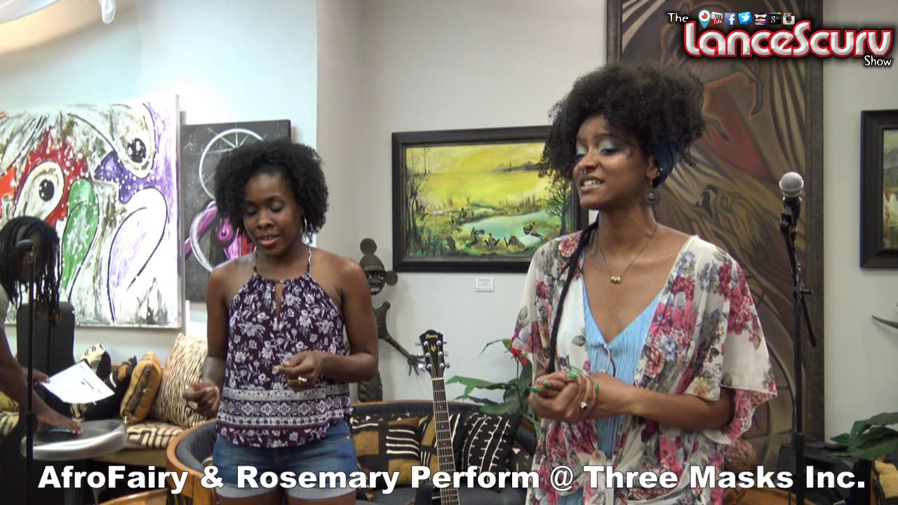 AfroFairy & Rosemary Perform An Awesome Song At Three Masks Inc! - The LanceScurv Show