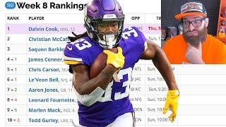 Fantasy Football Rankings Week 8 (2019)