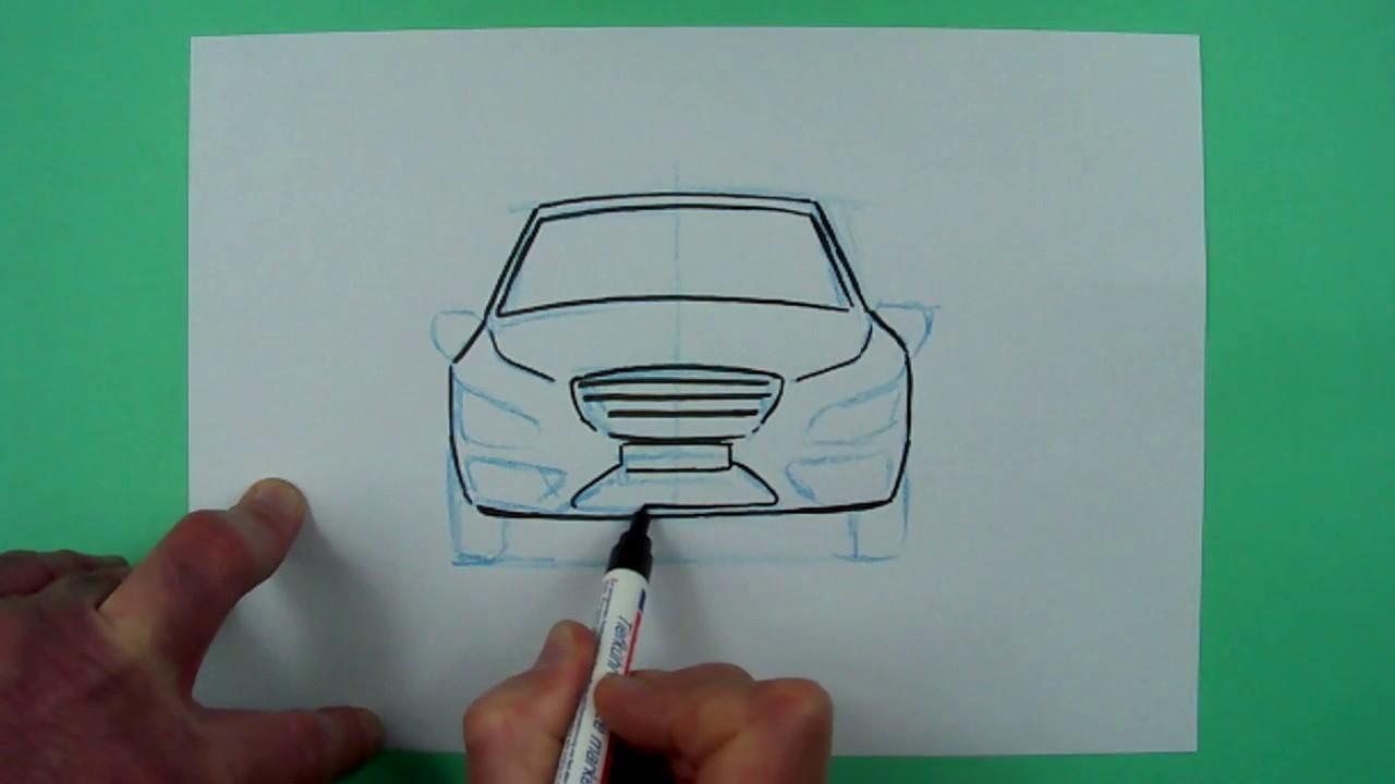 wie zeichnet man ein auto zeichnen f r kinder youtube. Black Bedroom Furniture Sets. Home Design Ideas