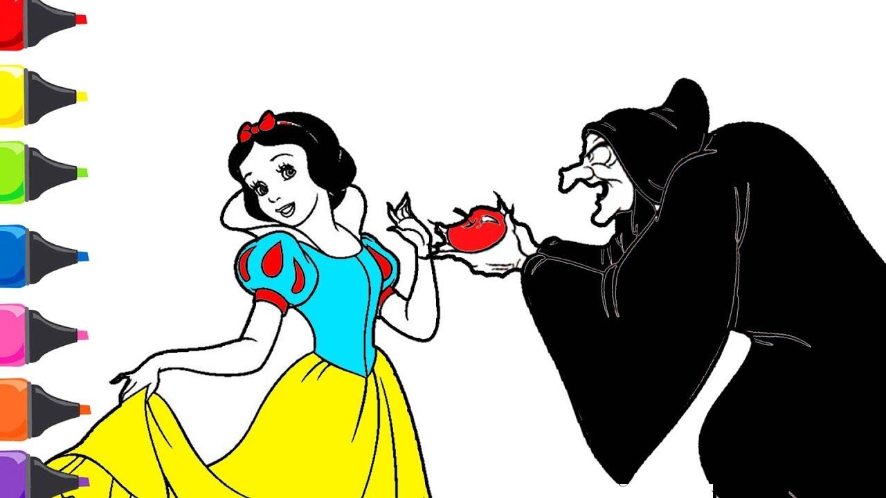 Pamuk Prenses Ve Yedi Cüceler Masalı Cadı Boyama Renkleri