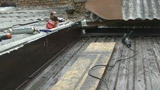 تركيب أسقف رخيصة خشب وحديد Easy building installation of metal roof