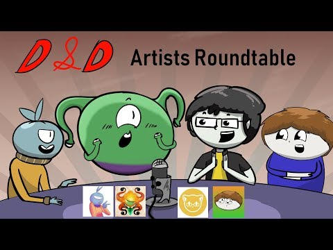 D&D Artists Roundtable Discussion Featuring: JoCat, Jess Jackdaw, Adan, And Puffin!