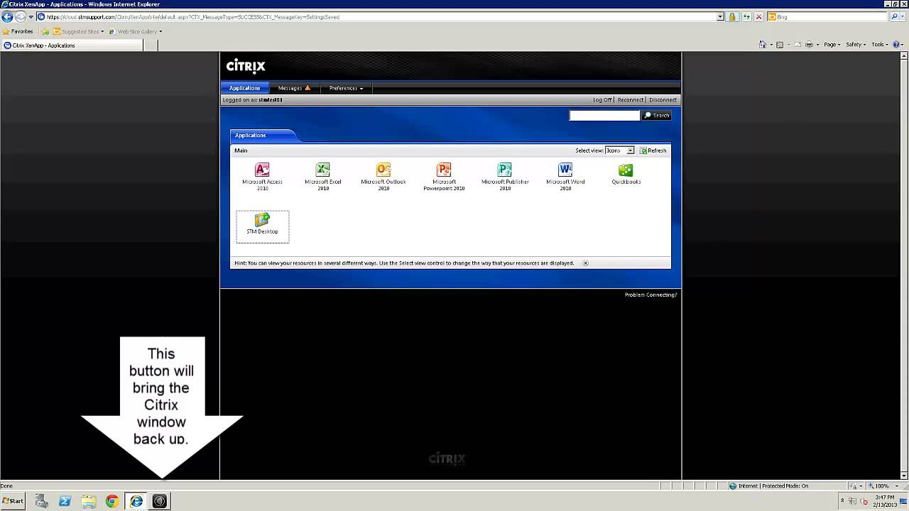 How to manipulate the Citrix window