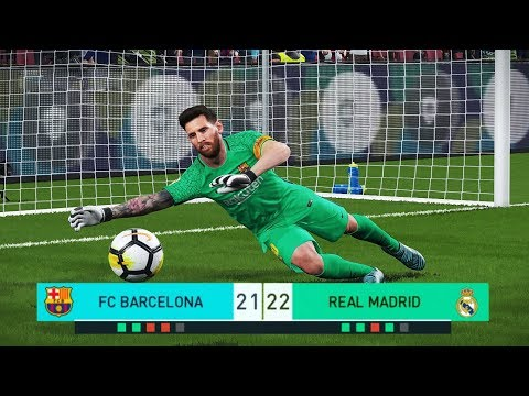 PES 2018 | goalkeeper L.MESSI vs goalkeeper CO | Penalty Shootout | Barcelona vs Real Madrid