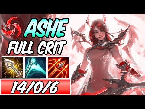 S+ FAE DRAGON ASHE ADC FULL CRIT 100% | New Build & Runes Hail Of Blades | League of Legends