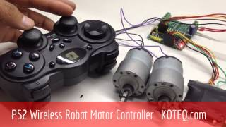 Video KOTEQ M085 PS2 Wireless Remote Robot DC Brushed Motor Controller download MP3, 3GP, MP4, WEBM, AVI, FLV Mei 2018