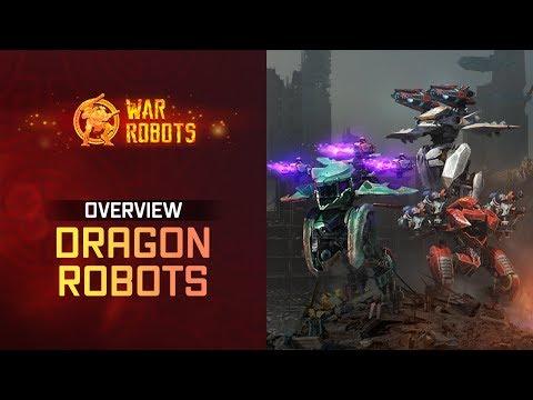War Robots Overview: New Flying Robots Ao Jun Ao Guang Ao Qin | WR Dragons