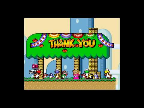 Super Mario World WiiU virtual console credit warp speed run attempt 9:54.37