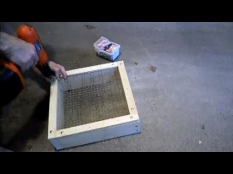 How To Make A Screen Box For Rockhounding