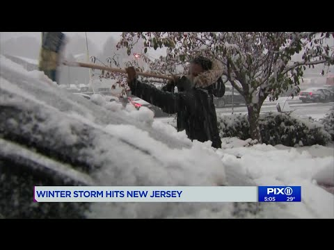 Winter storm hits New Jersey