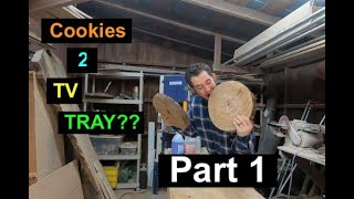 DIY: How to Make a Serving Tray/ TV tray from wood Cookies and Epoxy Resin Art!!!! Part 1