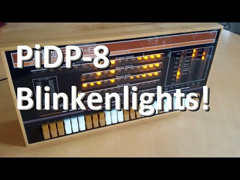 Building The PiDP-8 - An Amazing Replica Of A Vintage Computer