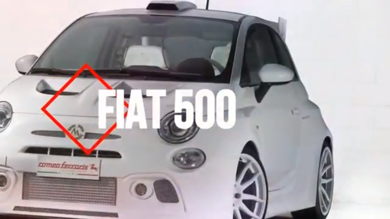 amazing..!! cinquone qatarromeo : ferraris is a 248hp fiat 500