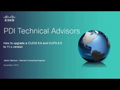 How to upgrade a CUCM/CUPS 8 6 to CUCM/IM&P 11 0 - YouTube